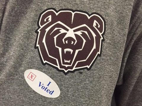 Senior Kyle McCollum displays that he voted Nov. 8.