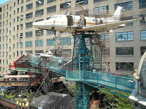 The City Museum is made mostly of reused objects found locally.