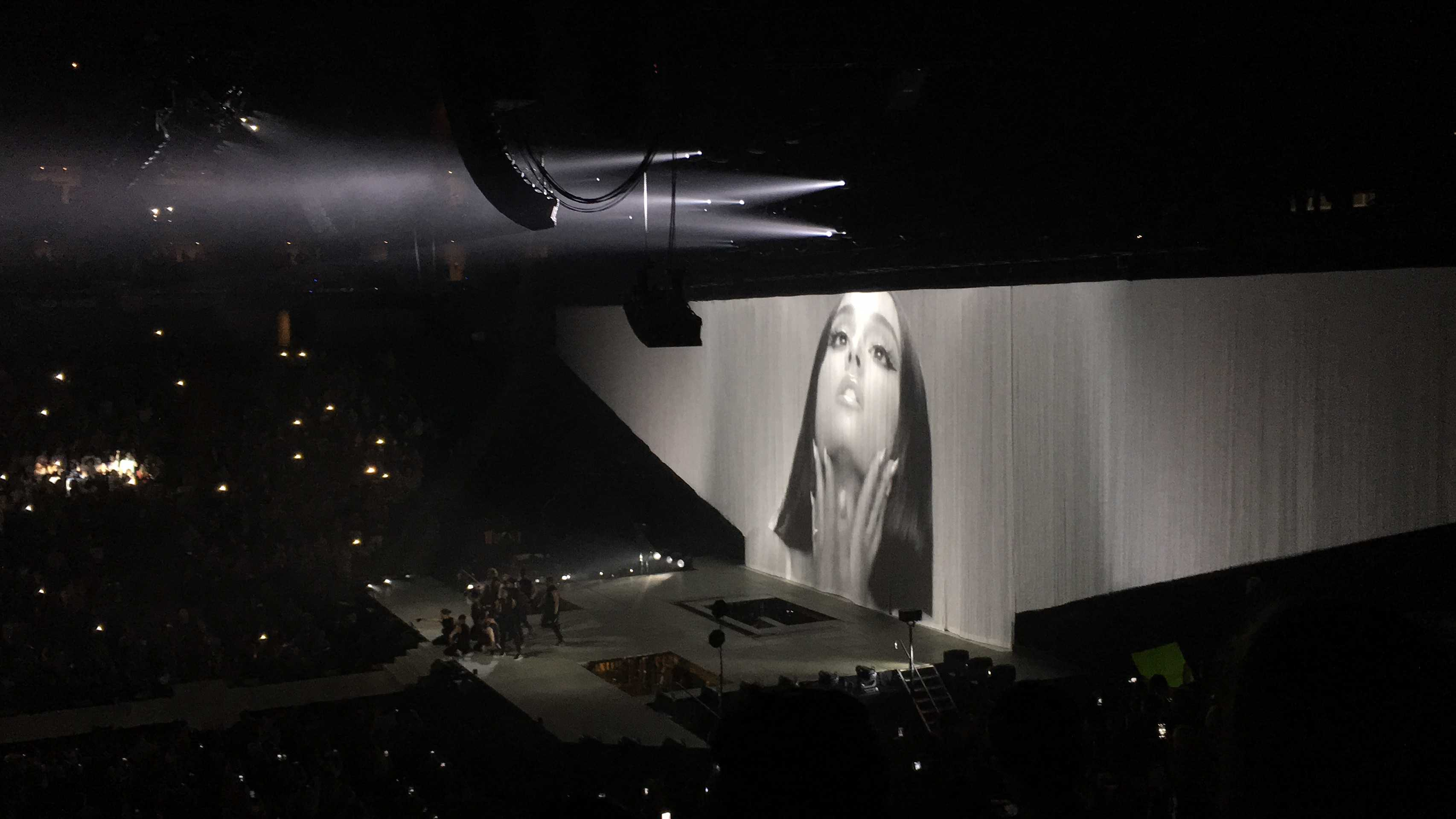 The sets and backgrounds at the Ariana Grande concert were very elaborate and added a whole new level to the experience.