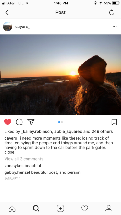 Claire Ayers signs back on to social media after a month.