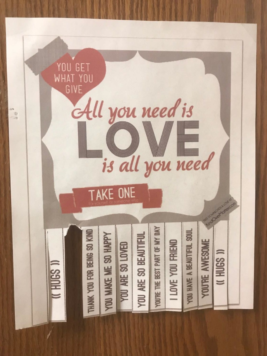 "When spotting a poster, take a slip for yourself or for someone else. ""They could help our school get more confident and grow more as a friends instead of just peers,"" senior Olivia Emke said. The posters can be found on the walls around school on classroom doors, bathroom mirrors, near water fountains and more, so keep an eye out."