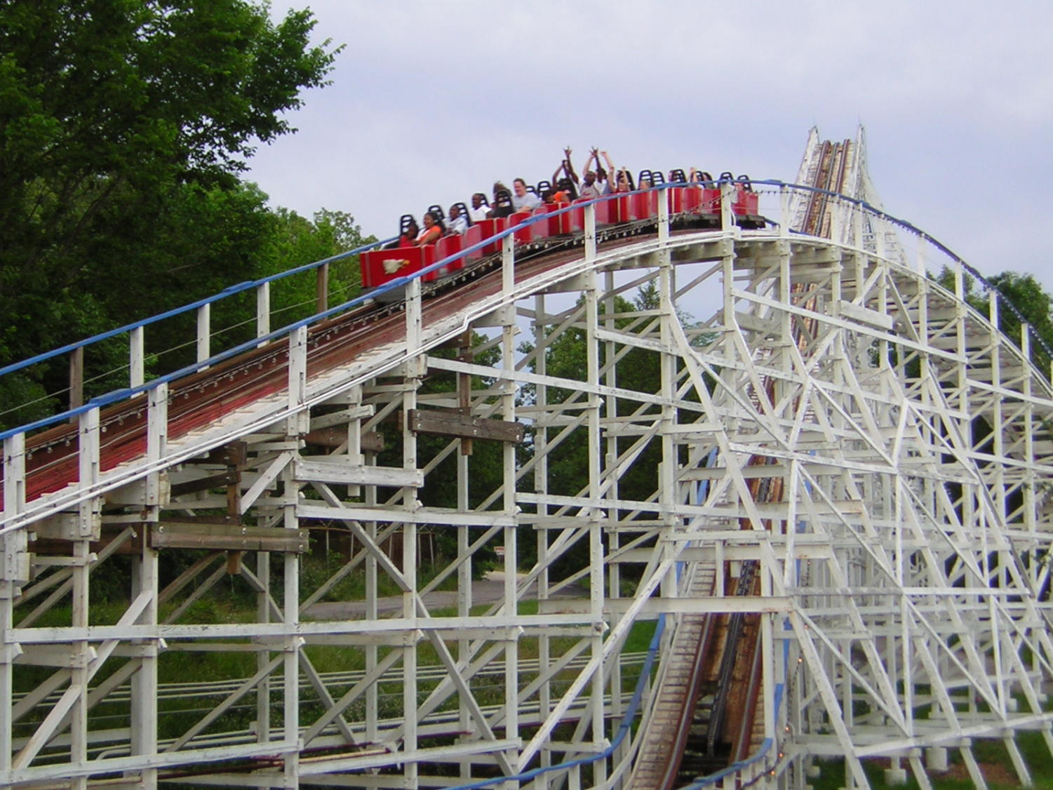 The Screaming Eagle is one roller coaster at Six Flags St. Louis. Six Flags is located in Eureka and is open from 10:30 a.m.-6 p.m., Monday through Friday, 10:30 a.m.-9 p.m. on Saturday and 10:30 a.m.-7 p.m. on Sunday.