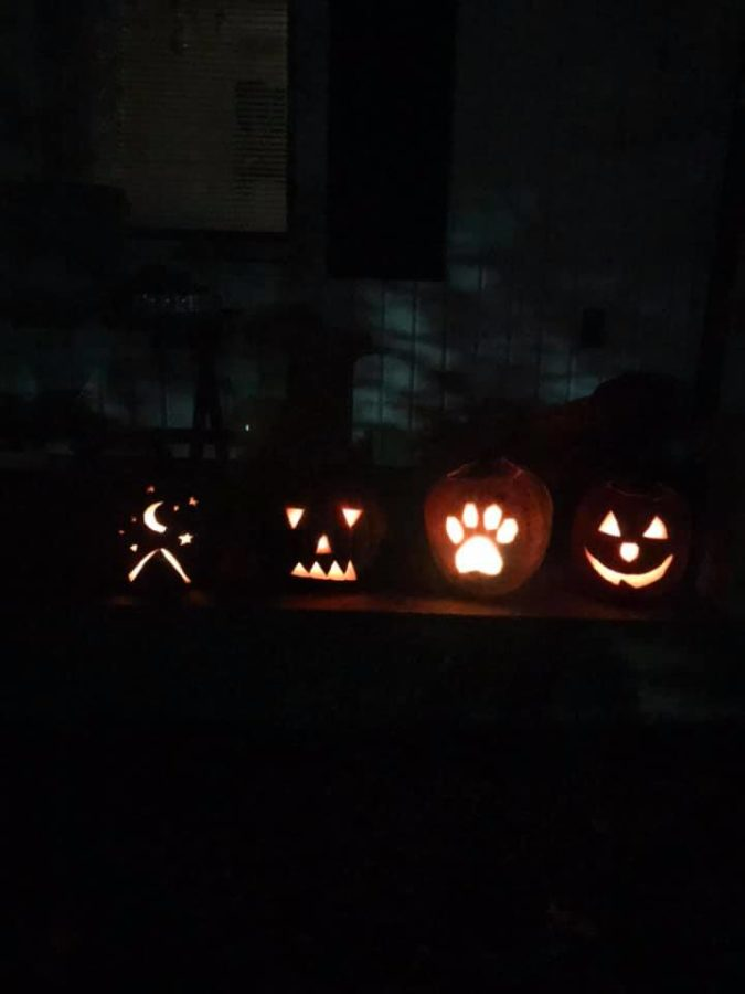 Carving+pumpkins+is+a+new+time+Halloween+tradition.+