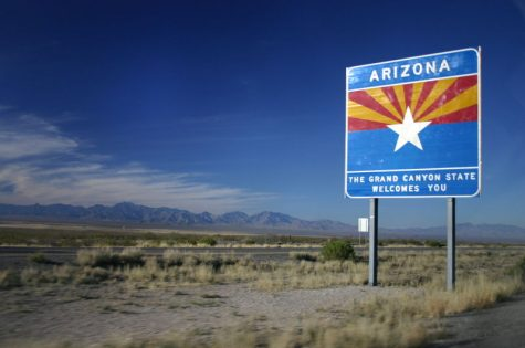 Arizona scenery is pictured by the sign seen entering the state. Arizona is a potential spot for the MLB to make an isolated return according to rumors. This location would allow for baseball fans to see their favorite teams resume the season earlier than expected.