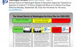 The School District of Washington announced the change to the hybrid schedule Sept. 24 on Twitter. Secondary students will remain in a hybrid model while elementary students return to school five days a week.