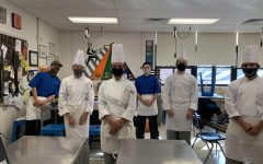The Culinary Arts students pose for a group photo.