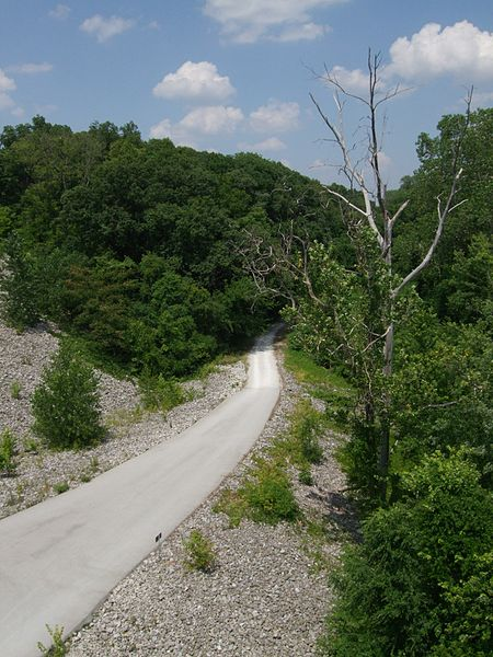 Part of the Katy Trail in Missouri