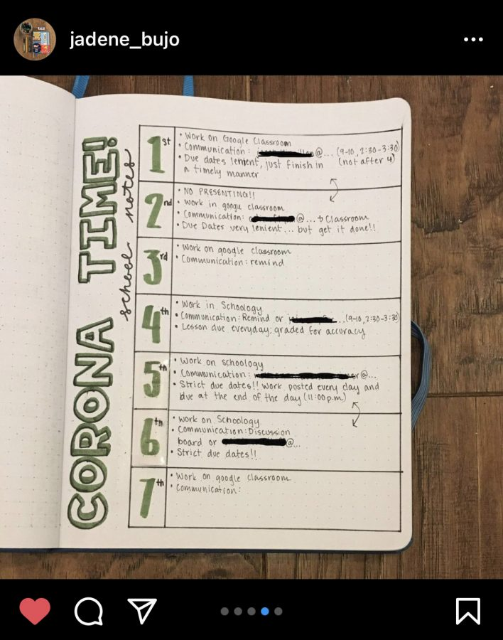 Senior Jaden Eckelkamp uses Instagram to keep track of her progress with her bullet journal.