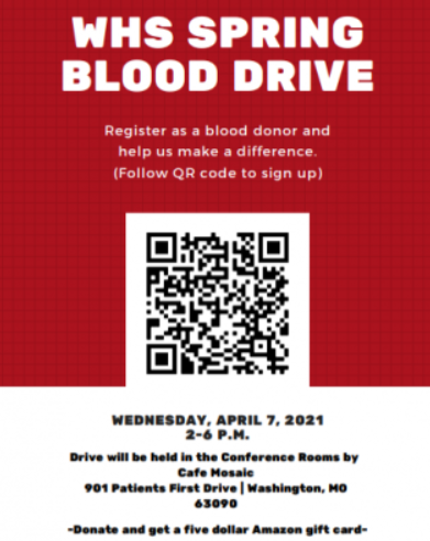 Leadership members host spring blood drive