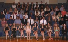 2020 NHS inductees pose for a picture after the ceremony May 17. Get involved, NHS advisor Colin Flynn said. Take the opportunity to take on service projects, not as a requirement, but as an opportunity. This is a club that will give members a chance to interact with people. Photo submitted by Craig Vonder Haar